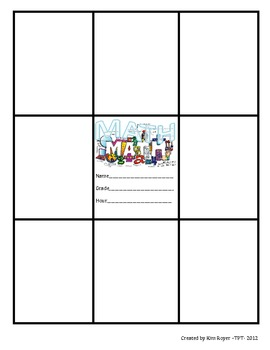 Math Window Pane Binder Cover