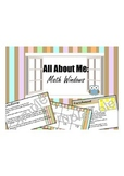 All About Me - Math Windows