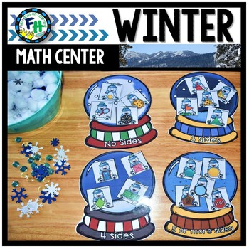 Math Winter Center: Snow Globe Shape Sorting