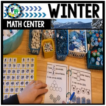 Math Winter Center: Snow More or Less Interactive Book