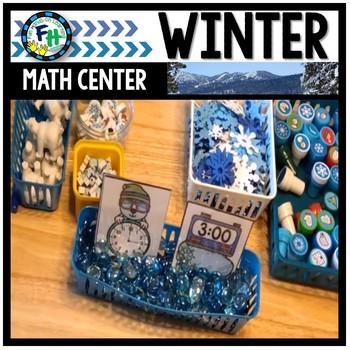 Math Winter Center: Telling Time Polar Bears