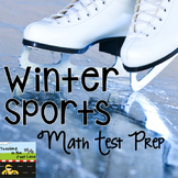 Math Test Prep Stations with Winter Sports Theme