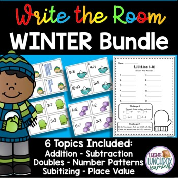 Math Winter Write the Room - BUNDLE