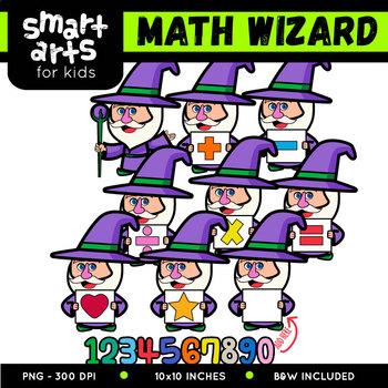 Math Wizard Digital Clip Art