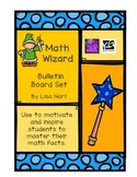 Math Facts Mastery - Math Wizards Motivational Bulletin Board Set