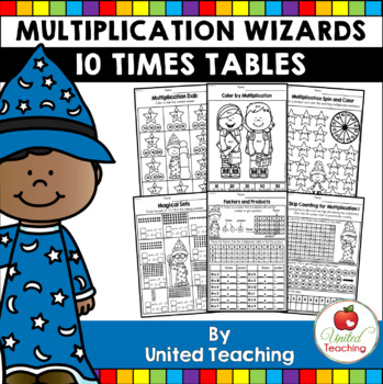 Math Wizards Multiplication 10 Times Tables