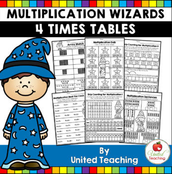 Math Wizards Multiplication 4 Times Tables