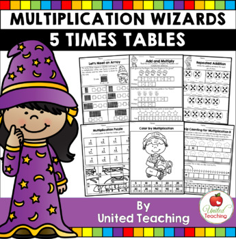 Math Wizards Multiplication 5 Times Tables