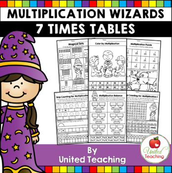Math Wizards Multiplication 7 Times Tables