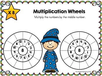 Math Wizards Multiplication Wheels Times Tables 1-12