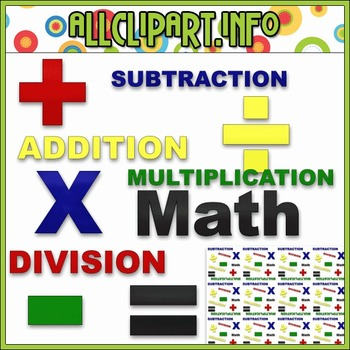 $1.00 BARGAIN BIN - Math Word Art Clip Art