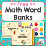 Math Word Bank