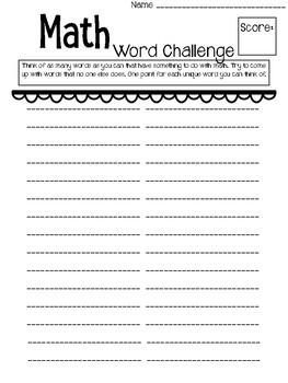 Math Word Challenge