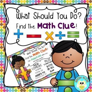 Math Word Clue Posters FREEBIE