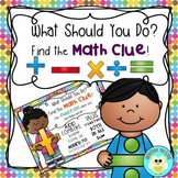 Math Word Clue Posters FREEBIE
