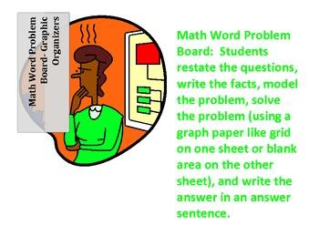 Math Word Problem Board - Graphic Organizer