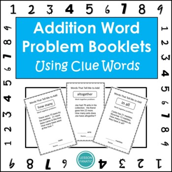 Math Word Problem Booklets:  Addition