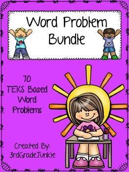 Math Word Problem Bundle - 70 Word Problems - TEKS Based