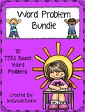 Math Word Problem Bundle - 70 Word Problems - TEKS Based