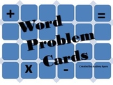 Math Word Problem Cards--Addition, Subtraction, Easy Multiplication