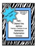 Math Word Problem Task Cards {Zebra Themed}