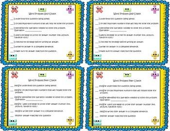 Math Word Problem Checklist
