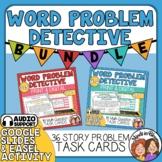 Math Word Problem Detective Bundle