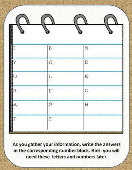 Math Word Problem Detective Scavenger Hunt