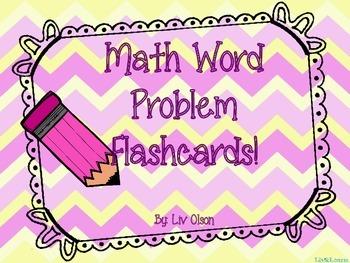 Math Word Problem Flashcards!