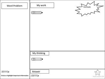Math Word Problem Frames - Elementary & Middle Grades