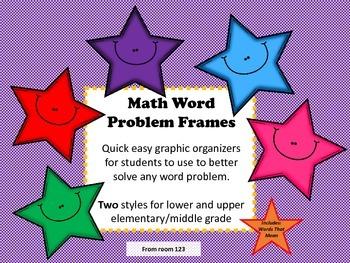 Math Word Problem Frames & Words That Mean BUNDLED
