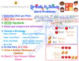 Math Word Problem Graphic Organizer-Break It Down For Word