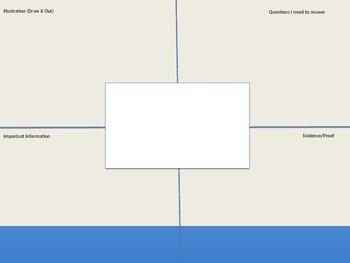 Math Word Problem Graphic Organizer & Equal Sign (Editable)