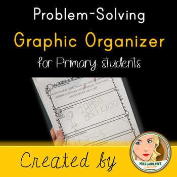Math Word Problem Graphic Organizer for Primary Students - Addition, Subtraction