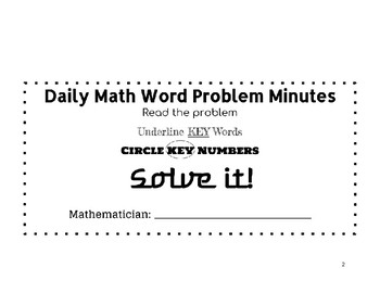 Math Word Problem Journal