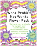 Math Word Problem Key Words (Flower Theme)
