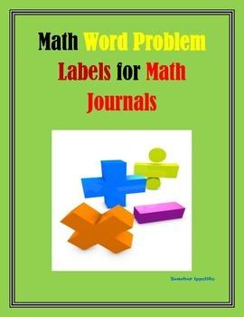 Math Word Problem Labels for Math Journals