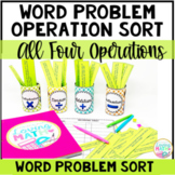 Math Word Problem Operation Sort