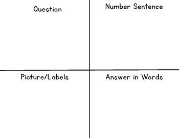 Math Word Problem Organizer