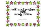 Math Word Problem Pack Money Version