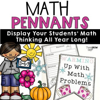 Math Pennants Word Problems For All Seasons