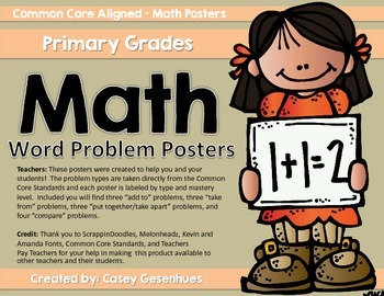 Math Word Problem Posters