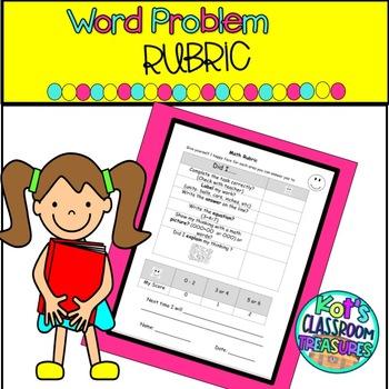 Math Word Problem Rubric