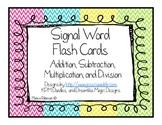 Math Word Problem Signal Word Flash Cards