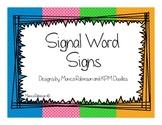 Math Word Problem Signal Word Signs