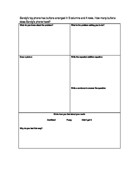Math Word Problem Solution Sheet