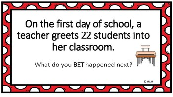 Math Word Problem Solving PowerPoint Lesson using the BET Line Strategy