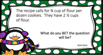 Math Word Problem Solving PowerPoint Lesson using the BET Line Strategy-December