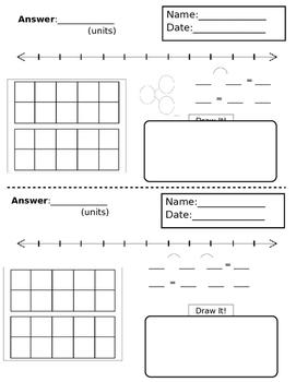Math Word Problem Solving Sheet