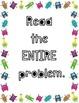 Monster Math Problem Solving Steps